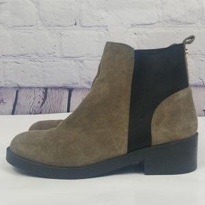 Steve Madden Grroupie leather upper ankle boots